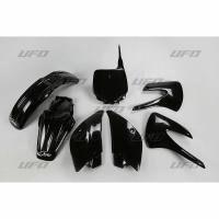 Plastiki Kawasaki KX 85 2001-2013 komplet czarny UFO