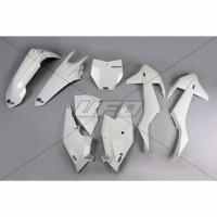 Plastiki KTM SX 125 150 250 SXF 250 350 450 EXC 125 250 300 350 450 500 EXCF 250 komplet biały UFO