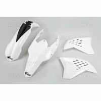 Plastiki KTM EXC 125 200 250 300 400 450 530 EXCF 250 komplet biały UFO