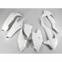 Plastiki KTM EXC 125 250 300 350 450 500 EXCF 250 komplet biały UFO