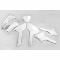 Plastiki Husqvarna TC 125 250 FC 250 350 450 komplet biały UFO