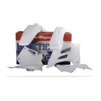 Plastiki GAS GAS EC 125 200 250 300 FSE 450 komplet biały POLISPORT