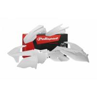 Plastiki KTM SXF 450 350 250 SX 250 150 125 komplet biały POLISPORT